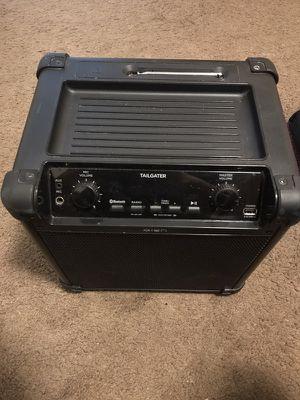 Portable black tailgater speaker/amplifier