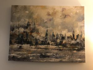 City Scene Canvas Painting