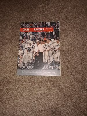 Baltimore Colts Packers Stadium Book
