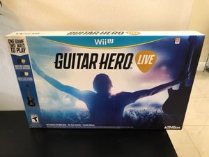 Nintendo Wii U Guitar Hero Live Brand New