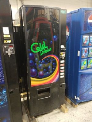 Cold drink vending machine fully working