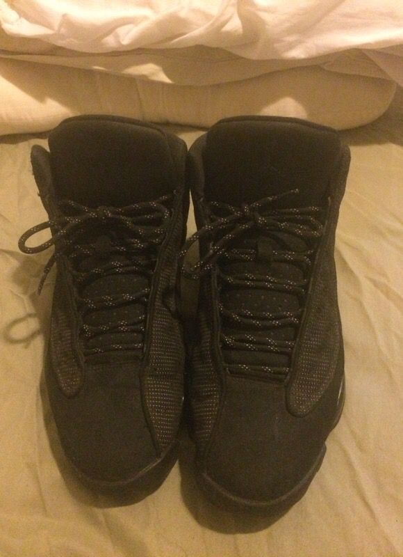 Air Jordan's black Cat 13's used but good condition