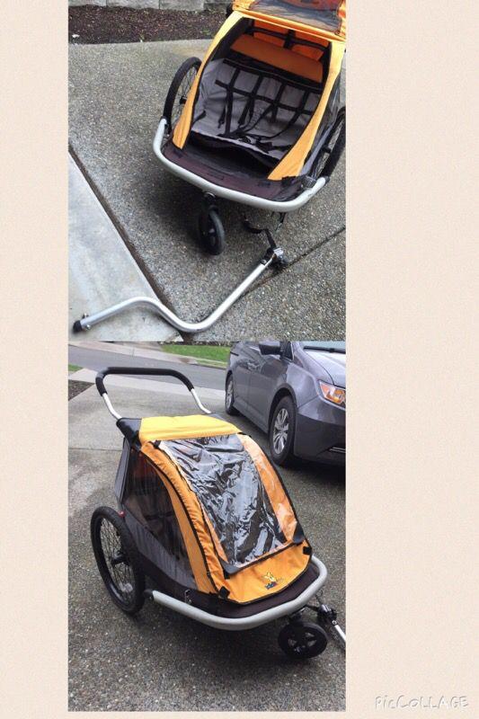 Kidarooz Chariot Bike Trailer Double Stroller General In