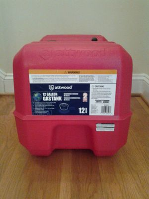 Attwood 8812LP2 12-gallon portable tank with high-flow fuel cap, red finish