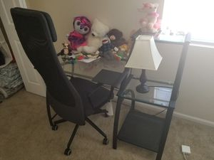 Really Nice Glass Desk with Chair