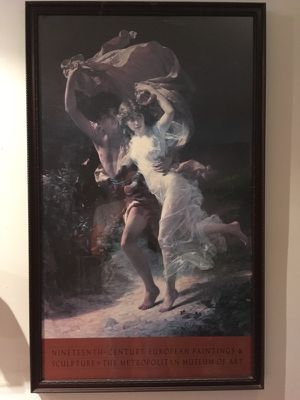 Man and Woman Painting/Print with Black Frame