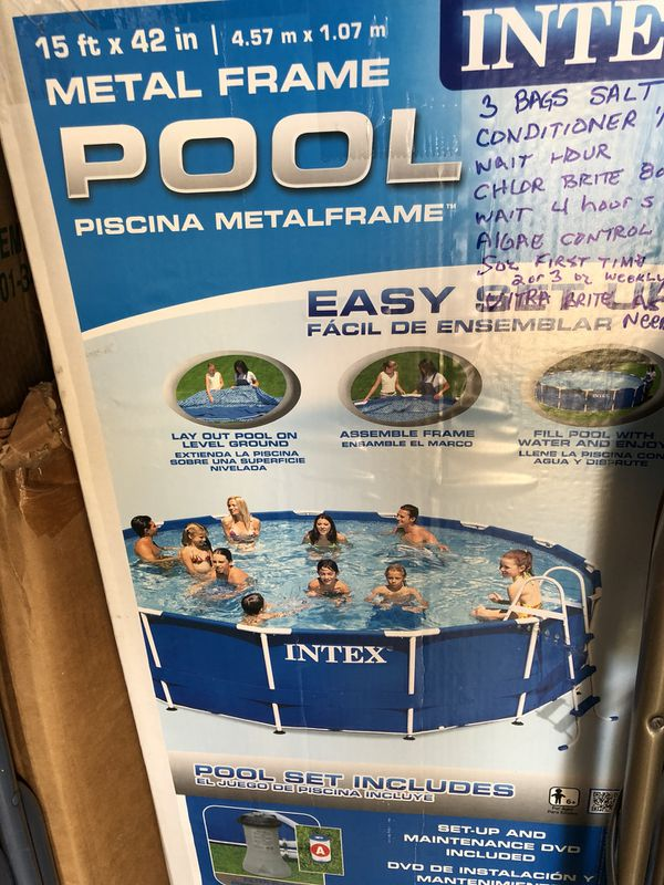Vistoso Intex De Metal Piscina Marco 16 X 48 Colección - Ideas ...