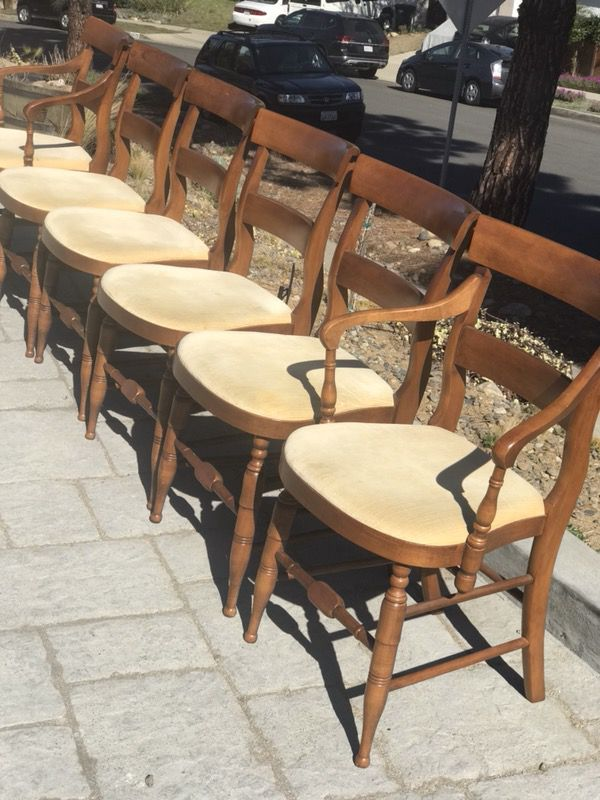 Vintage Hitchcock Dining Chairs 1950s Furniture In Dana Point CA