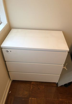 White three drawer