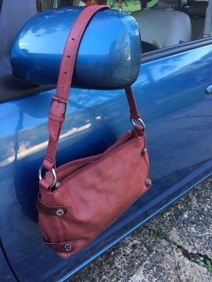 Cherry leather handbag