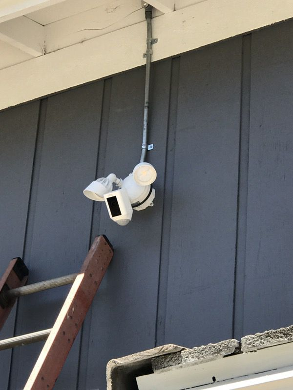The New Ring Flood Light With Camera Installation