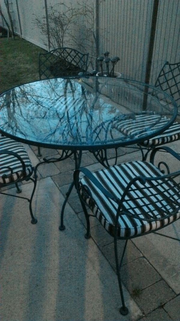 Wrought Iron patio set (Home & Garden) in Lynbrook, NY - OfferUp