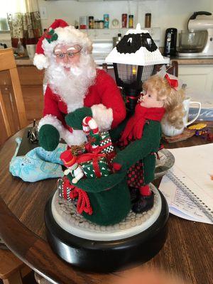 Musical Santa Figurine