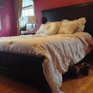 New Dark Cherry Queen Bed