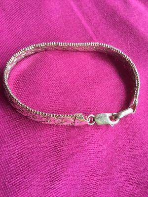 Italian 🇮🇹 Sterling Silver bracelet Herring bone style $28 / Floral fashion ring $11 / Long pretty silver butterfly 🦋 earrings $20