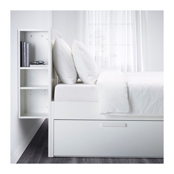 Brimnes ikea brimnes ikea queen bed with storage and headboard furniture in - Tete de lit ikea malm ...