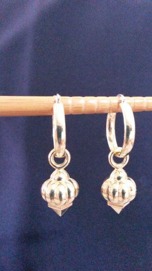 14k Yellow Gold Earrings Including Fancy Charms
