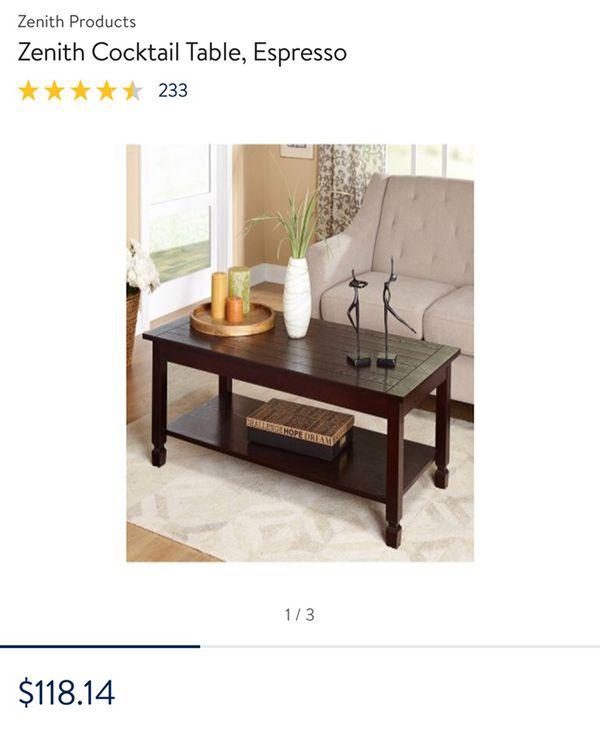 Zenith Cocktail Table Espresso Furniture in Spartanburg SC OfferUp