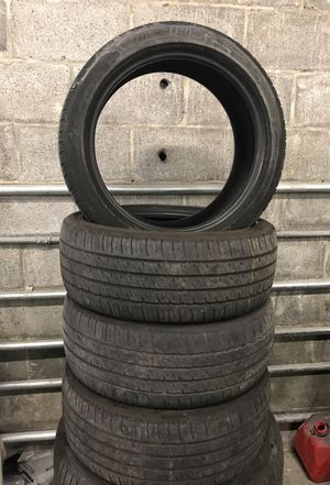 FOUR USED MICHELIN TIRES (P215/45R17)