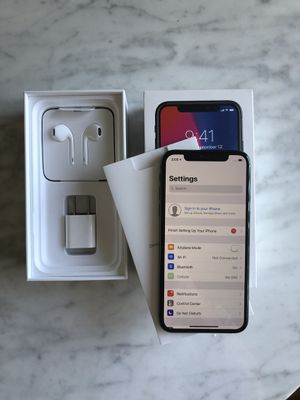 Apple iPhone X 256GB Unlocked for all Carriers