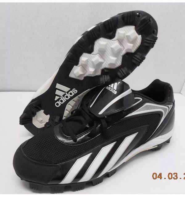 c9e83fbb591 Adidas HotStreak Low Black White-Silver Baseball Cleats G47418 Men s Size  13 NWT