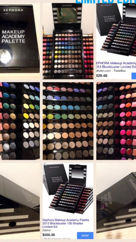 sephora makeup academy palette. sephora makeup academy palette block buster limited edition 130 shades $650-350 collectable authentic t