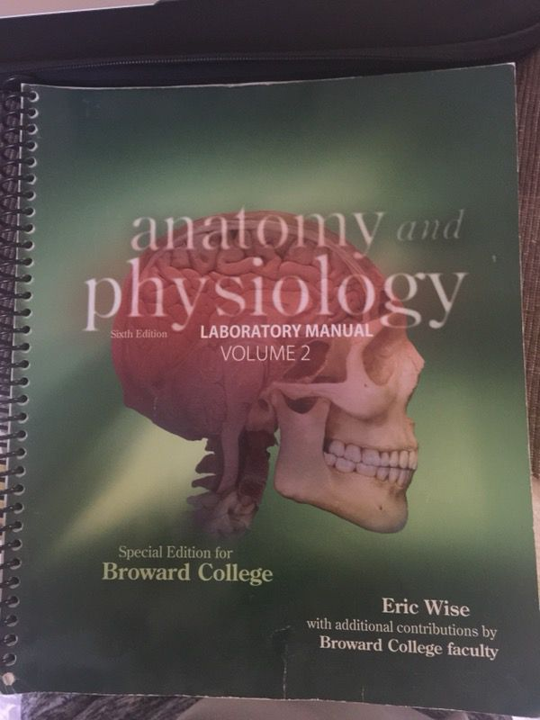 Anatomy and physiology lab manual volume 2 broward college (Books ...