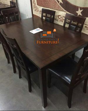 Brand New 7 Piece Wood Dining Set