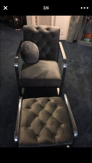 New accent chair with matching footstool