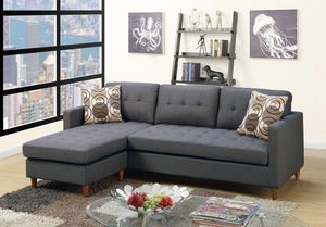 Brand new gray linen sectional