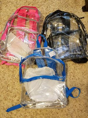 Clear back packs