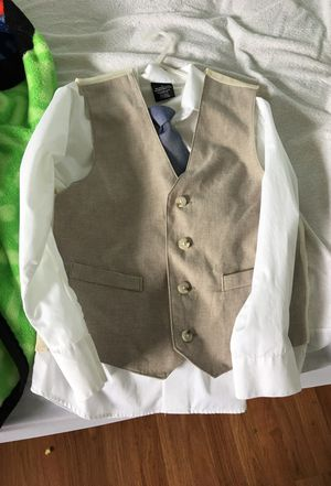 Dress shirt with vest/ tie