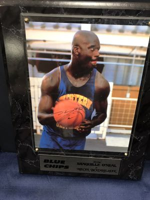 "Autographed Shaquille O'Neal 8x10 Photo on Placque from Movie ""Blue Chips""!, Comes with COA! You Won't Find Many of These!"