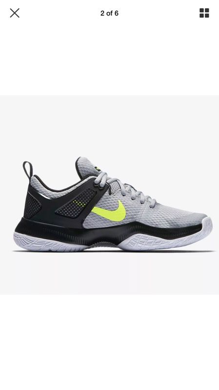 New Womens Nike Air Zoom Hyperace Volleyball Shoes 902367-007 sz 8 Wolf  Grey (Clothing & Shoes) in Bonita, CA