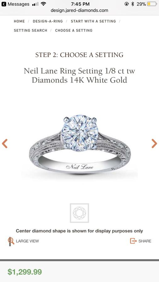 NEIL LANE ENGAGEMENT RING W WEDDING BANDS Jewelry Accessories