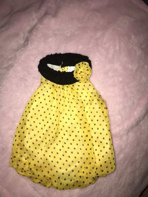 Yellow Bumble Bee Romper (6 Months)