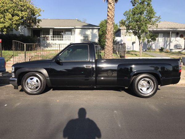 Rare 1997' Chevy 3500 Dually Single Cab Lowered , Alcoas ...