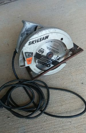 "Skilsaw #574 7 1/4"" Circular Saw W/Metal Case/9 Blades"