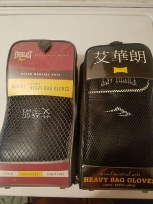 2 pairs of heavy bag gloves