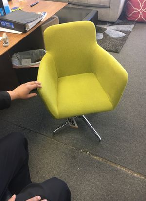 Set of 2 lime swivel dining chair