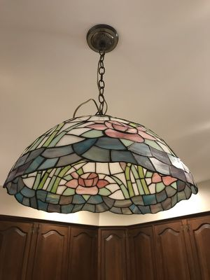 Stained Glass Ceiling Lamp - Vintage