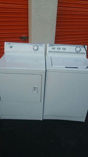 Set Washer and Dryer maytag capacity plus