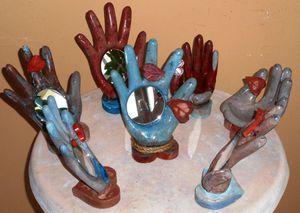Halloween stone hands