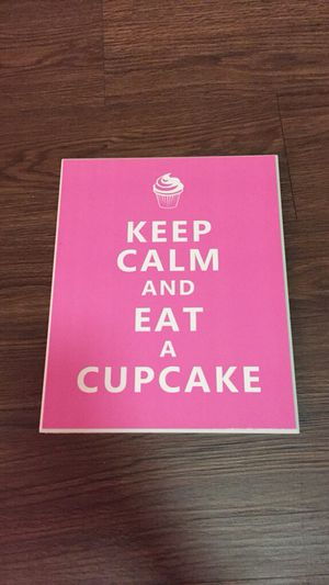 Keep Calm & Eat A Cupcake Plaque