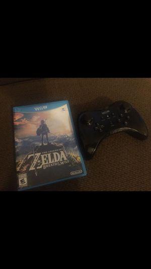 Wii U Zelda breath of the wild and pro controller