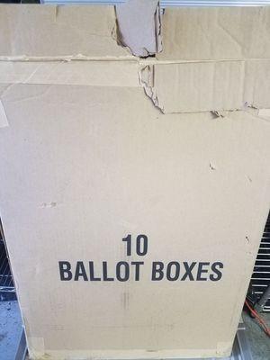 Brand new ballot boxes