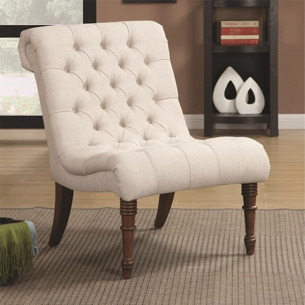 ACCENT CHAIR OATMEAL FABRIC