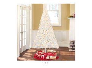 Christmas Tree white with lights