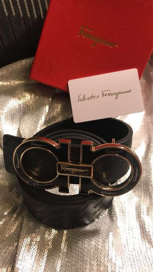"Black Ferragamo Belt (32-34"")"