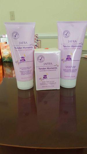 Crema,shampoo y colonia para bebés